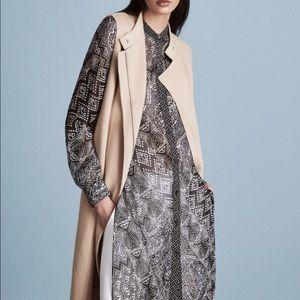 BCBG London Long Vest Coat
